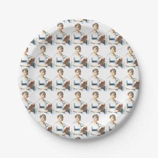 Jane Austen Theme Paper Plates 7 Inch Paper Plate