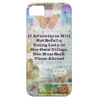 Jane Austen travel adventure quote iPhone 5 Cover