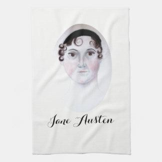 Jane Austen watercolor portrait kitchen towels