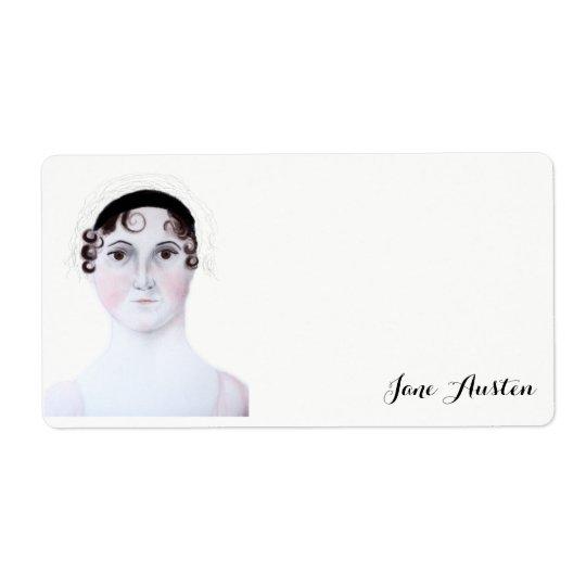 Jane Austen watercolor portrait Shipping Label. Shipping Label