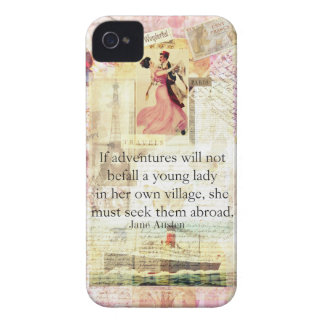 Jane Austen whimsical cute travel quote iPhone 4 Case-Mate Case