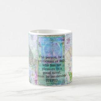 Jane Austen witty book quote Coffee Mug