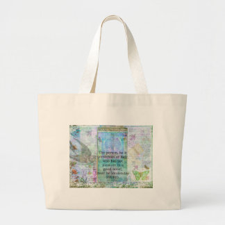 Jane Austen witty book quote Large Tote Bag
