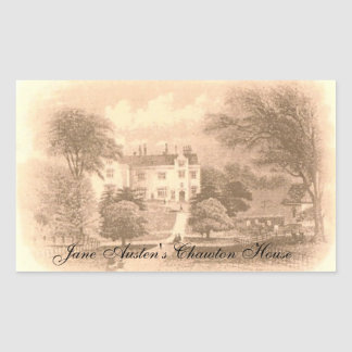 Jane Austen's Chawton House Rectangular Sticker