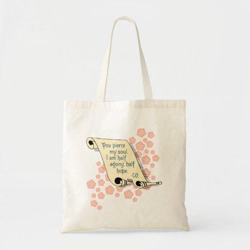 Jane Austen's Persuasion half agony half hope tote Tote Bags