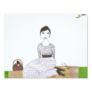 Jane Austen's Picnic 11 Cm X 14 Cm Invitation Card