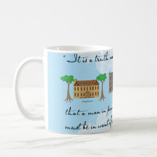 Jane Austen's Pride and Prejudice Houses Coffee Mug