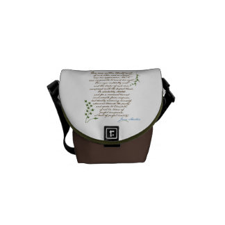Jane Austen's Pride & Prejudice Quote #1 Courier Bag