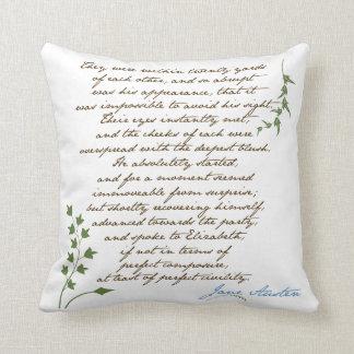 Jane Austen's Pride & Prejudice Quote #1 Cushion