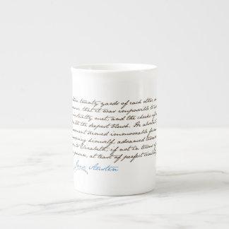 Jane Austen's Pride & Prejudice Quote #1 Tea Cup