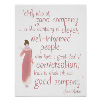 """Jane Auten """"Good company"""" quote from Persuasion Poster"""