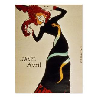 Jane Avril  1899 Postcard