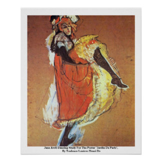 Jane Avril Dancing Study For The Poster