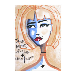 Jane Bleeds Stardust and Champagne Canvas Print
