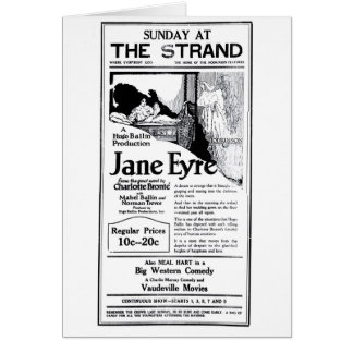 'Jane Eyre' 1922 vintage movie ad card