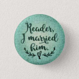 Jane Eyre Reader I Married Him 3 Cm Round Badge