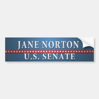 Jane Norton Car Bumper Sticker