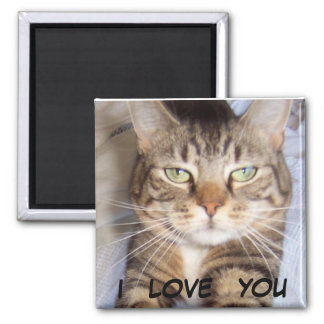 Jane says..i LOVE YOU Square Magnet