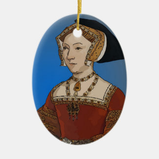 Jane Seymour Queen of Henry VIII Of England Ceramic Oval Decoration