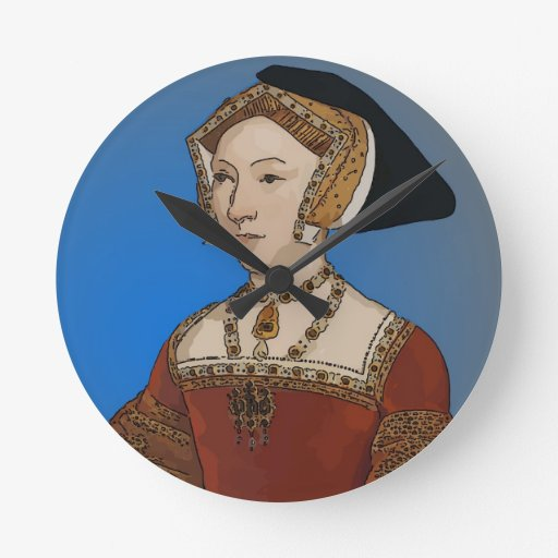 Jane Seymour Queen of Henry VIII Of England Round Wall Clock
