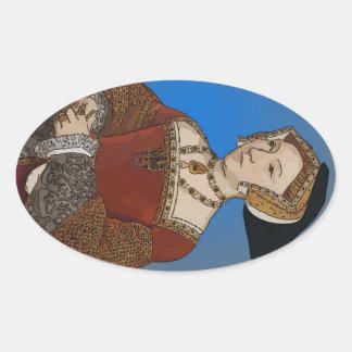 Jane Seymour Queen of Henry VIII Of England Oval Sticker
