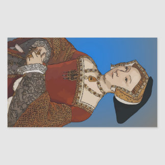 Jane Seymour Queen of Henry VIII Of England Rectangular Sticker
