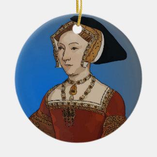 Jane Seymour Queen of Henry VIII Of England Round Ceramic Decoration