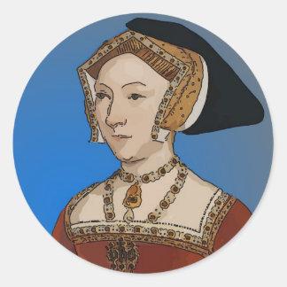 Jane Seymour Queen of Henry VIII Of England Round Sticker
