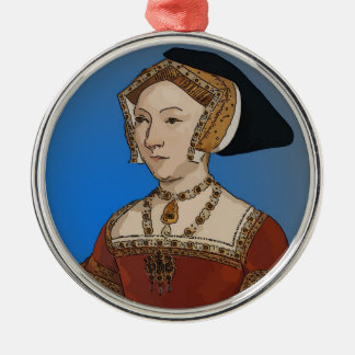 Jane Seymour Queen of Henry VIII Of England Silver-Colored Round Decoration