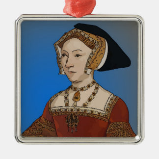 Jane Seymour Queen of Henry VIII Of England Silver-Colored Square Decoration