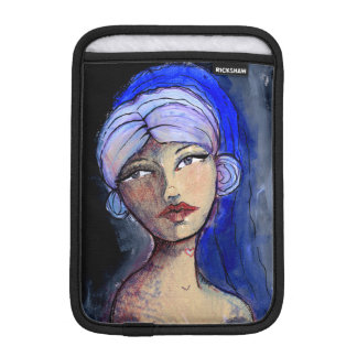 Jane with the Blue Veil iPad Mini Sleeve