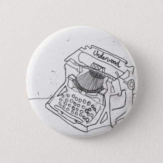 Janel's Antique Typewriter 6 Cm Round Badge