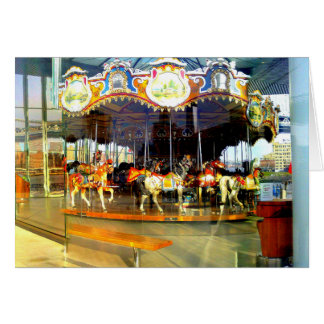 JANE'S CAROUSEL-BROOKLYN BRIDGE PARK GREETING CARD