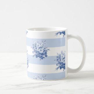 Jane's Rose Bouquet blueberry stripe classic mug