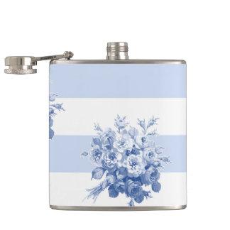 Jane's Rose Bouquet blueberry stripe flask