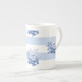 Jane's Rose Bouquet blueberry stripe mug