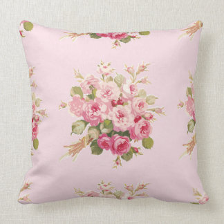 Jane's Rose Bouquet peony square pillow