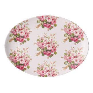 Jane's Rose Bouquet pink Serving Platter