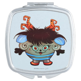 JANET ALIEN MONSTER CARTOON compact mirror SQUARE