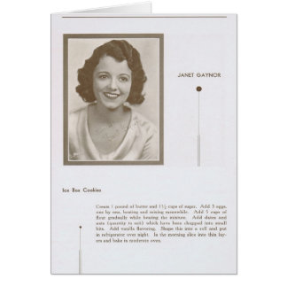 Janet Gaynor Recipe Card