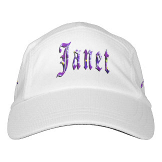Janet, Name, Logo, White Performance Hat