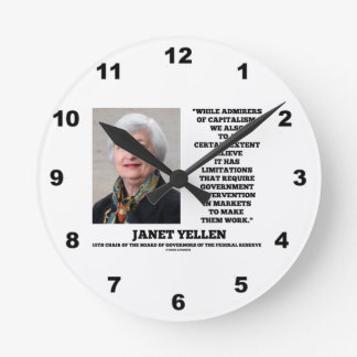Janet Yellen Admirers Capitalism Govt Intervention Clocks