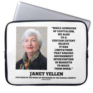 Janet Yellen Admirers Capitalism Govt Intervention Laptop Computer Sleeves
