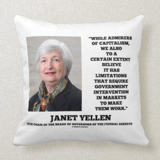 Janet Yellen Admirers Capitalism Govt Intervention Throw Pillow