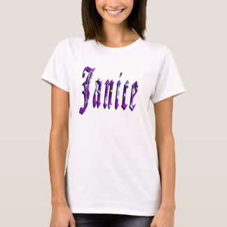Janice Girls Name Logo, T-Shirt