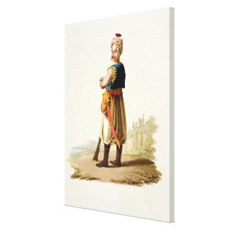 Janissary, from 'Costumes of the Various Nations', Gallery Wrapped Canvas