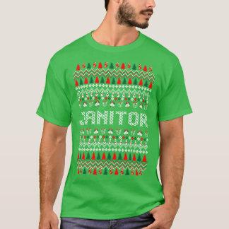 Janitor Ugly Christmas Sweater Tshirt