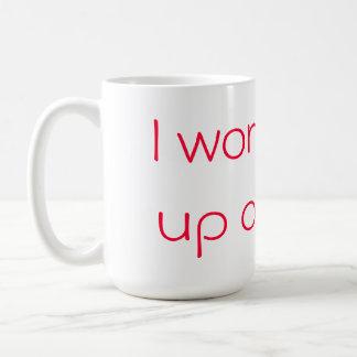 """Janoskians """"I won't give up on milk' cup Basic White Mug"""