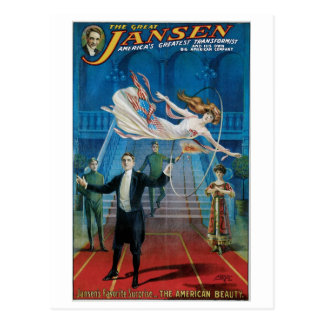 Jansen ~ The Great Vintage Magic Act Postcard