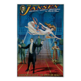 Jansen ~ The Great Vintage Magic Act Poster